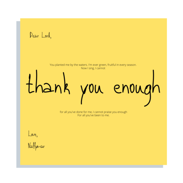 Thank You enough – NaffyMar